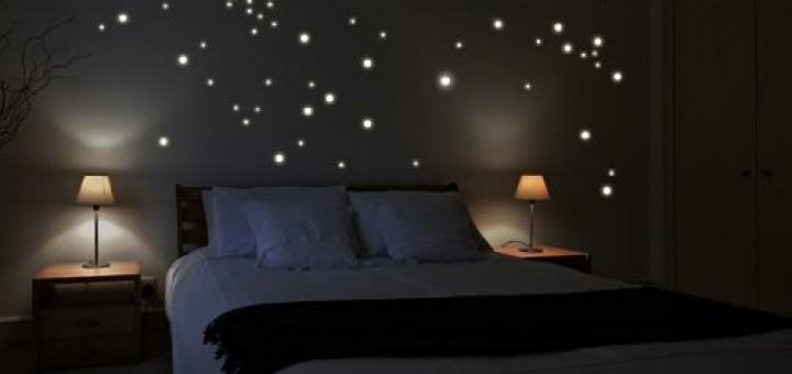 Leuchtsterne Sternenhimmel Kinderzimmer